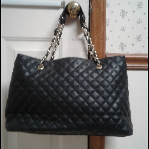 Black Quilted ladies handbag